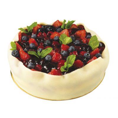 ovocný tvarohový dort